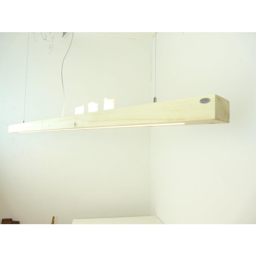 Esstischlampe Hängeleuchte aus Zirbenholz   196 cm-6