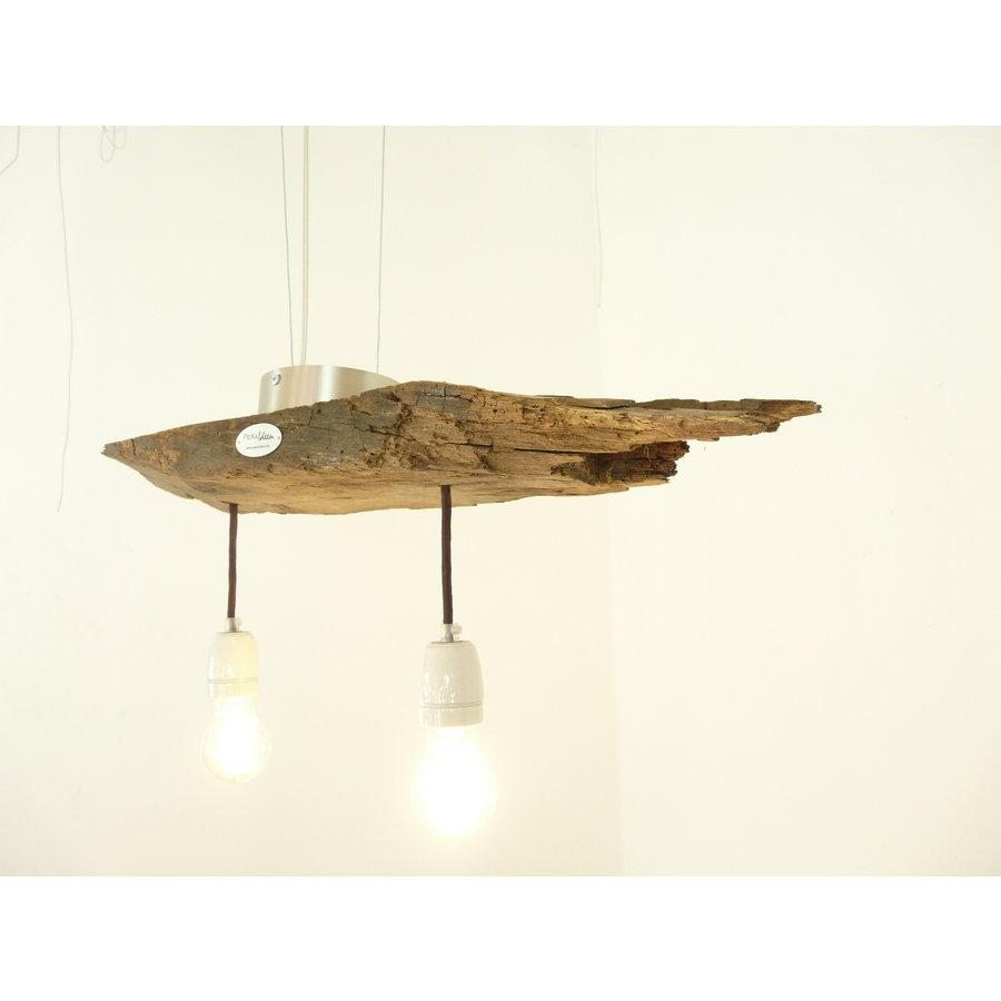 Deckenlampe aus rustikalen  Eichenholz-2