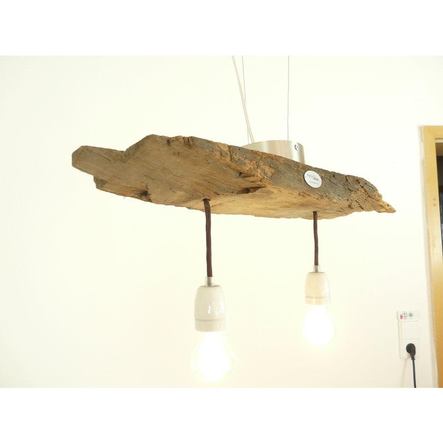Deckenlampe aus rustikalen  Eichenholz-3