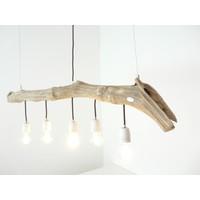 thumb-Schwemmholzlampe mit Porzellanfassungen-2