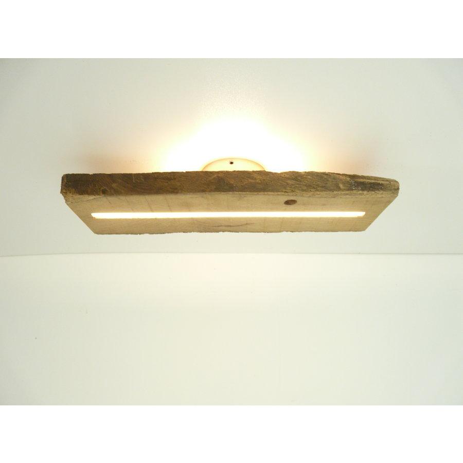 Deckenleuchte Antikholz mit indirekter Beleuchtung-1