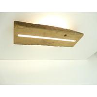 thumb-Deckenleuchte Antikholz mit indirekter Beleuchtung-2