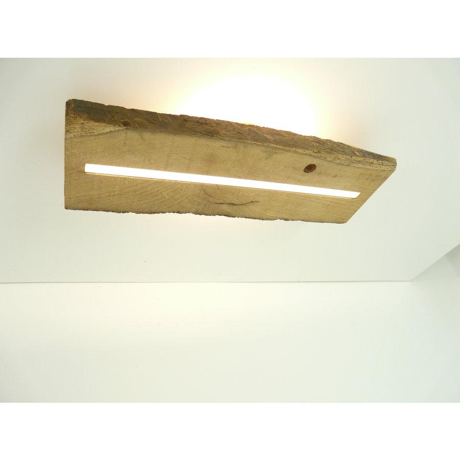 Deckenleuchte Antikholz mit indirekter Beleuchtung-2