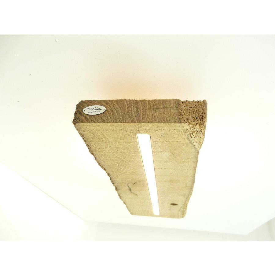 Deckenleuchte Antikholz mit indirekter Beleuchtung-6