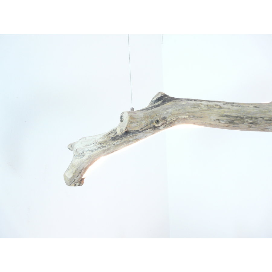 Treibholz Hängeleuchte mit Ober- und Unterlicht-5