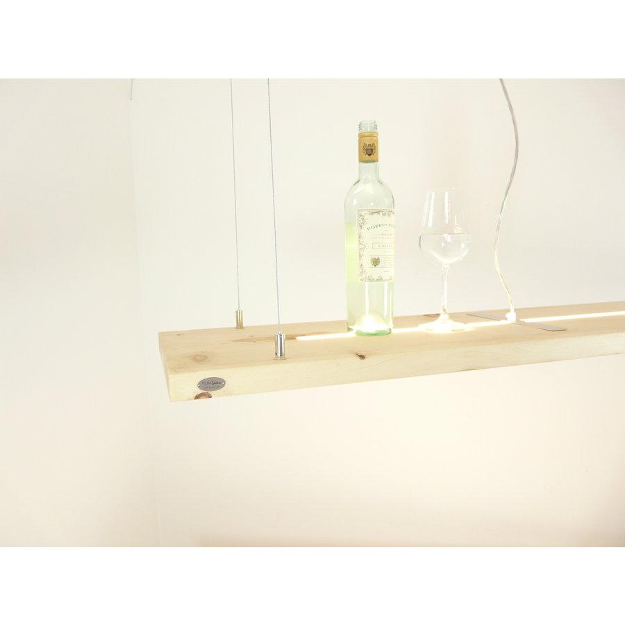 Zirbenholz Hängeleuchte mit Ober- und Unterlicht-4