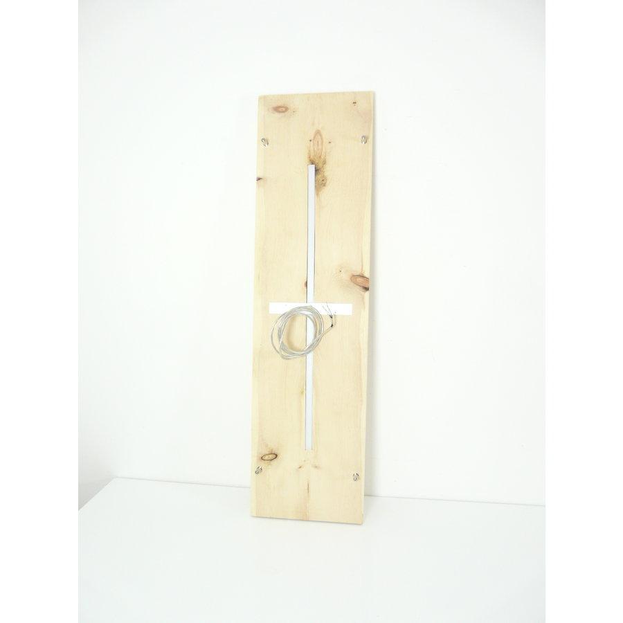 Zirbenholz Hängeleuchte mit Ober- und Unterlicht-6