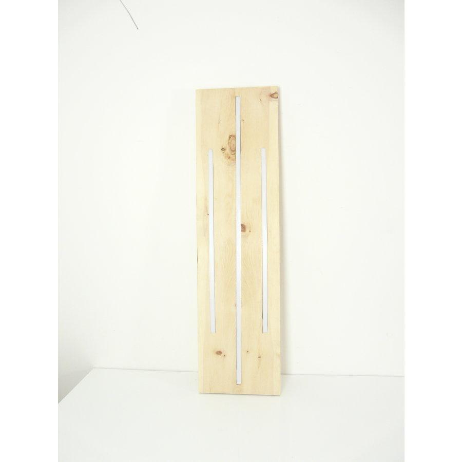 Zirbenholz Hängeleuchte mit Ober- und Unterlicht-7