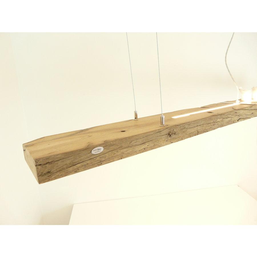 große hochwertige LED Lampe Hängeleuchte Holz Eiche Balkenlampe-2