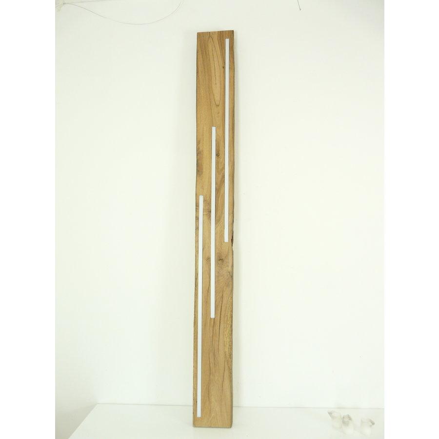 große hochwertige LED Lampe Hängeleuchte Holz Eiche Balkenlampe-3