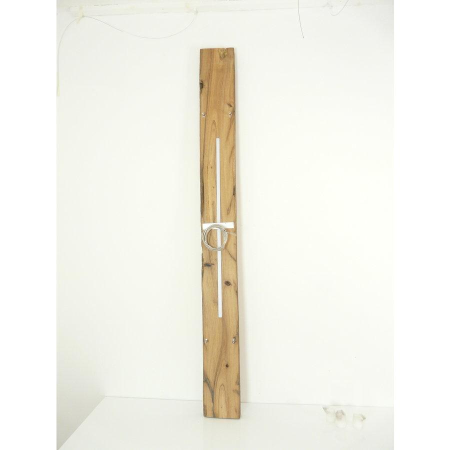 große hochwertige LED Lampe Hängeleuchte Holz Eiche Balkenlampe-4