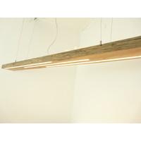 thumb-große hochwertige LED Lampe Hängeleuchte Holz Eiche Balkenlampe-7