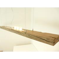 thumb-große hochwertige LED Lampe Hängeleuchte Holz Eiche Balkenlampe-8