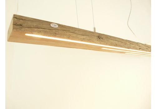 große hochwertige LED Lampe Hängeleuchte Holz Eiche Balkenlampe