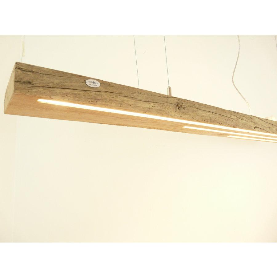 große hochwertige LED Lampe Hängeleuchte Holz Eiche Balkenlampe-1