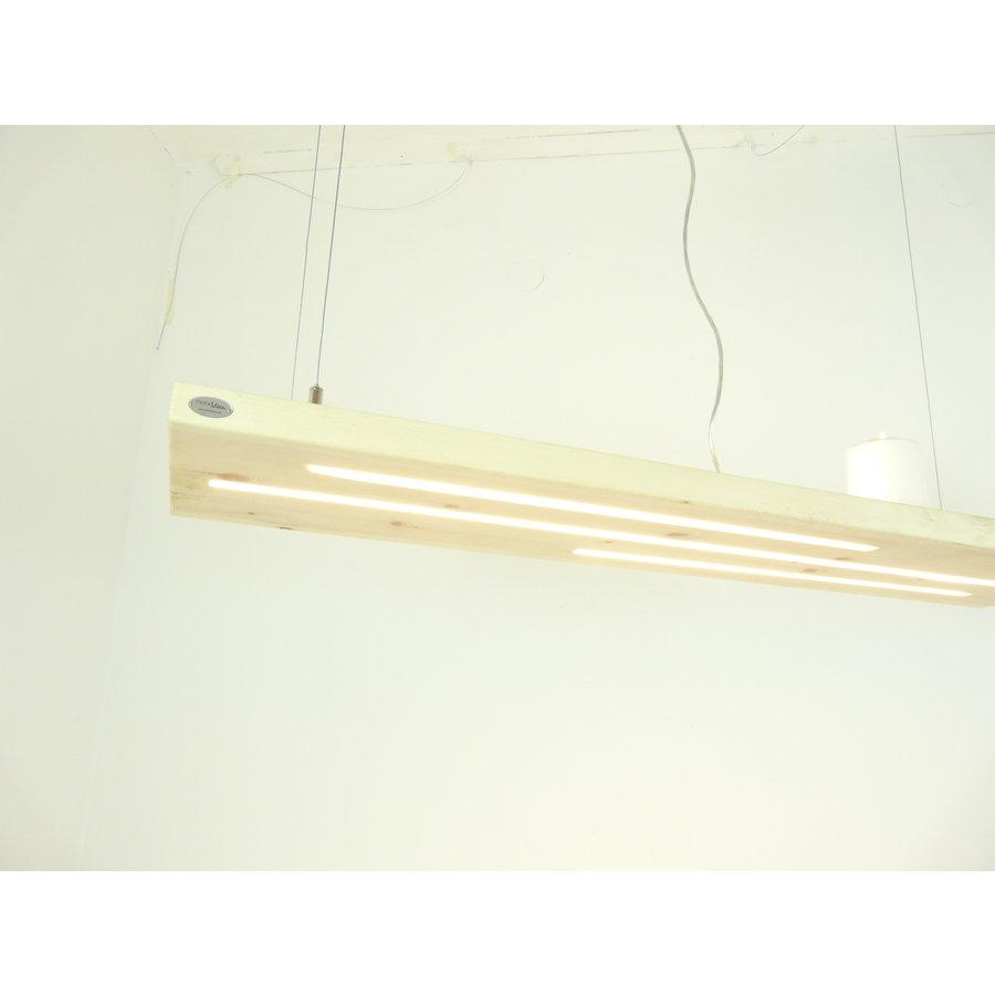Zirbenholz Hängeleuchte mit Ober- und Unterlicht-2