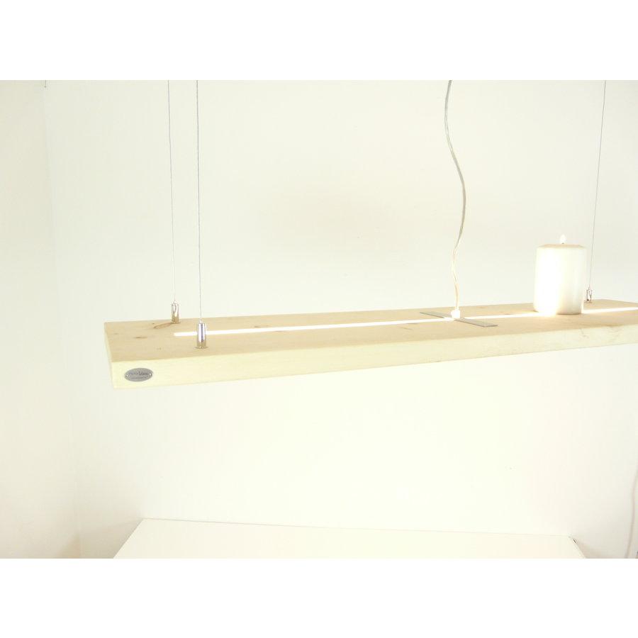 Zirbenholz Hängeleuchte mit Ober- und Unterlicht-3