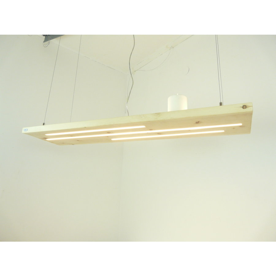 Zirbenholz Hängeleuchte mit Ober- und Unterlicht-5