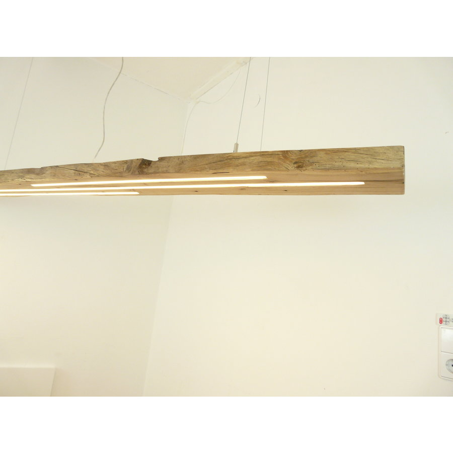 Mega LED Lampe Hängeleuchte Antikbalken Holz Eiche-2