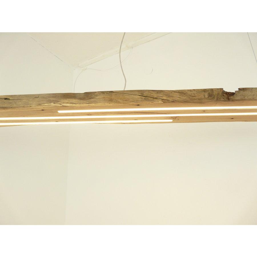 Mega LED Lampe Hängeleuchte Antikbalken Holz Eiche-3