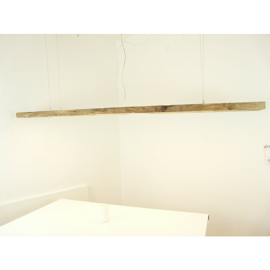 Mega LED Lampe Hängeleuchte Antikbalken Holz Eiche-6