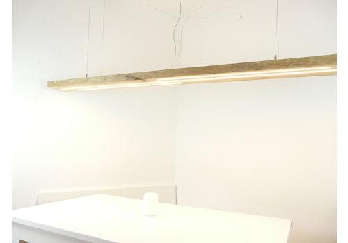 Mega LED Lampe Hängeleuchte Antikbalken Eiche