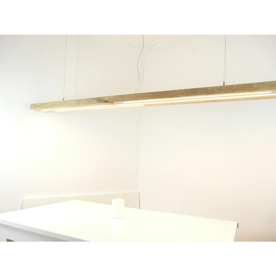 Mega LED Lampe Hängeleuchte Antikbalken Holz Eiche-1