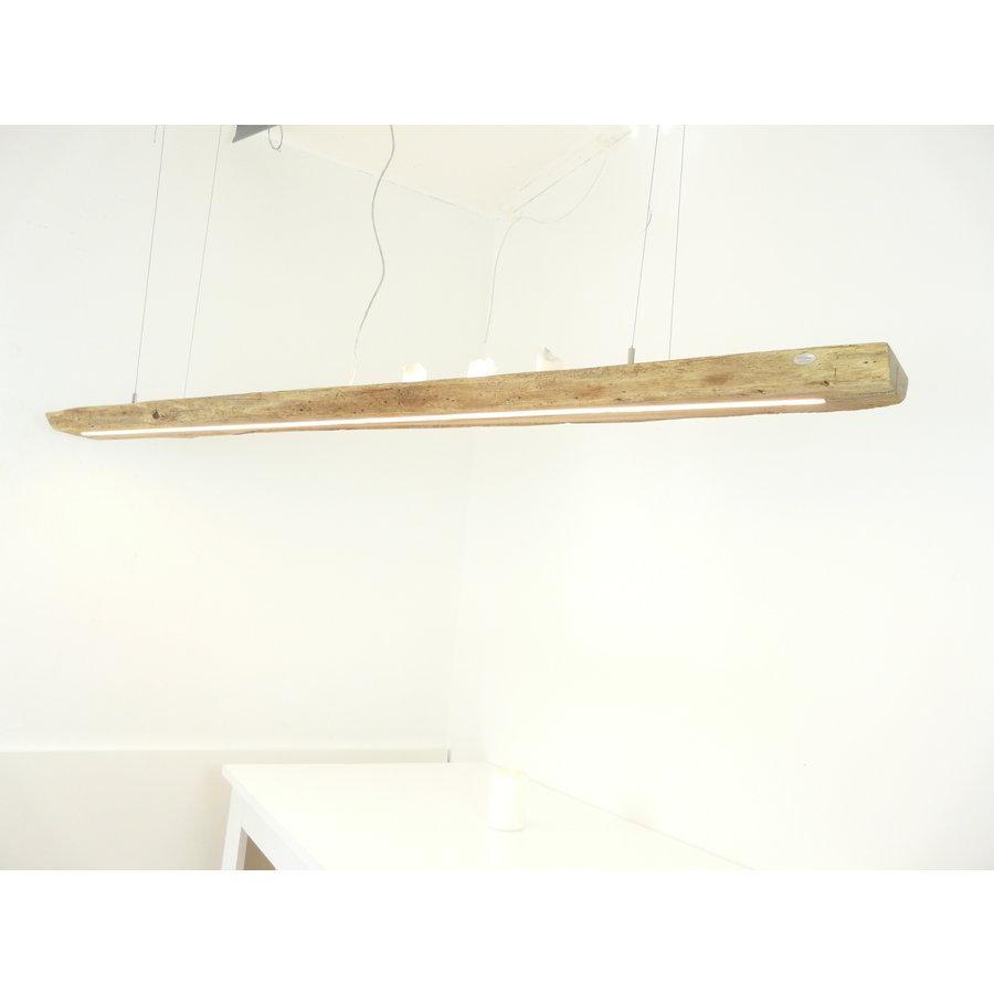 XL LED Lampe Hängeleuchte Antikbalken Holz Eiche-3