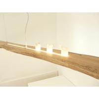 thumb-XL LED Lampe Hängeleuchte Antikbalken Holz Eiche-7