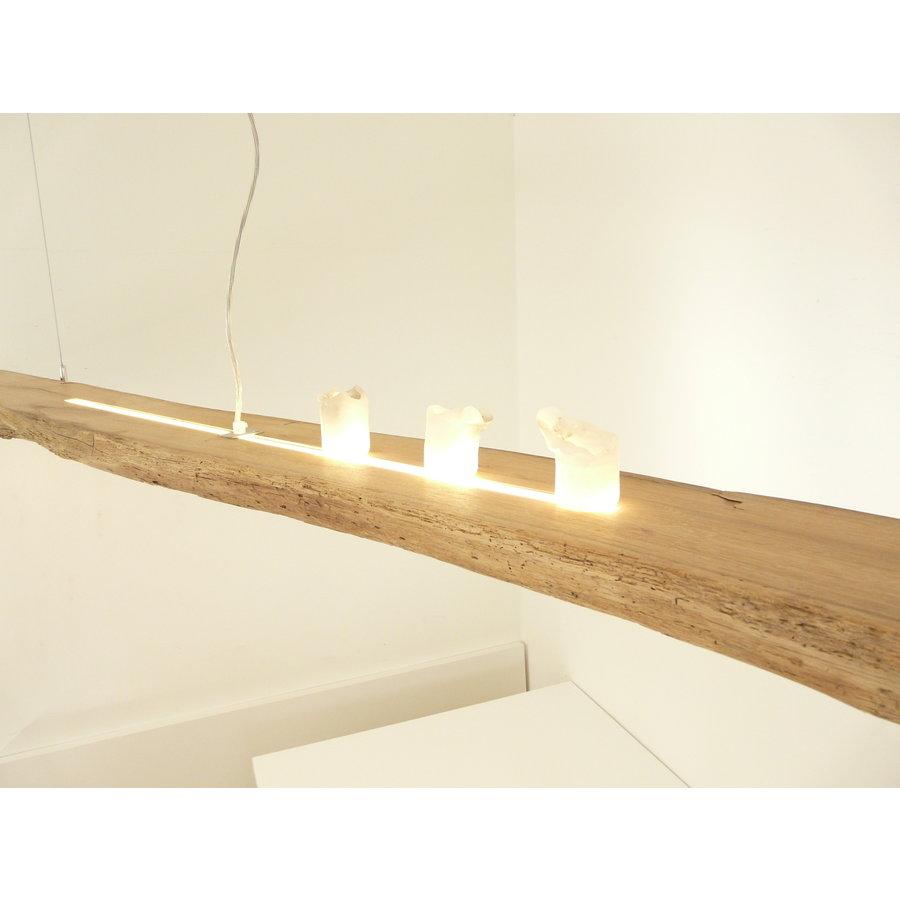 XL LED Lampe Hängeleuchte Antikbalken Holz Eiche-7