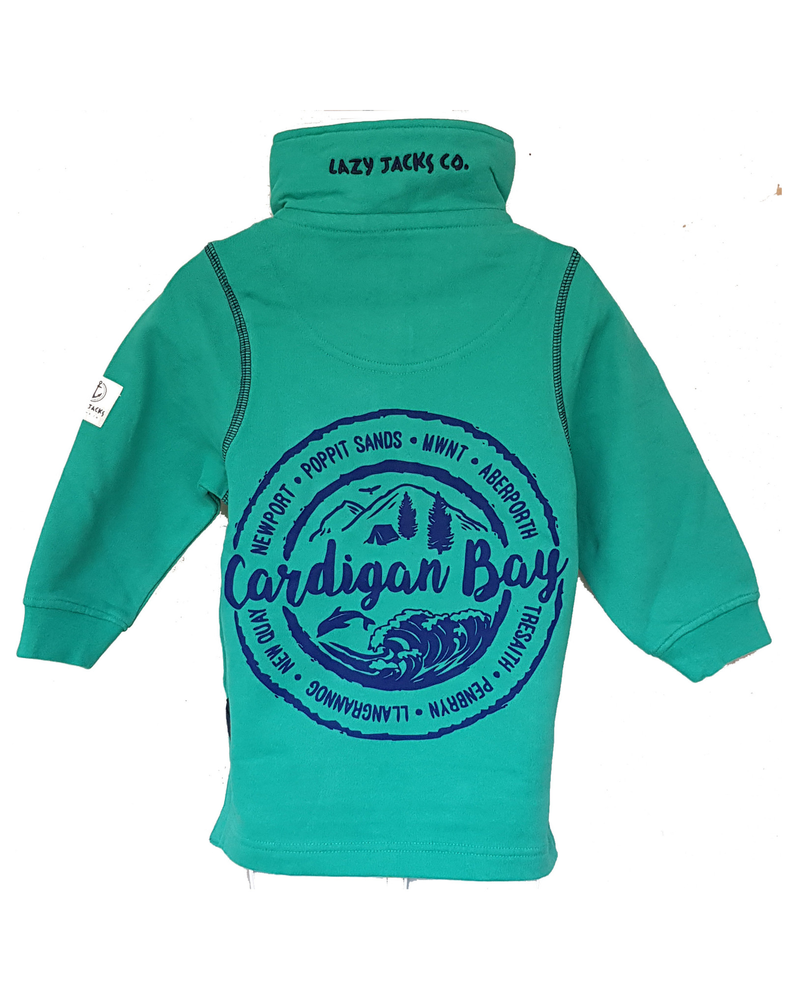 Lazy Jacks Lazy Jacks 1/4 Zip Sweatshirt LJ3C - Cardigan Bay Trees