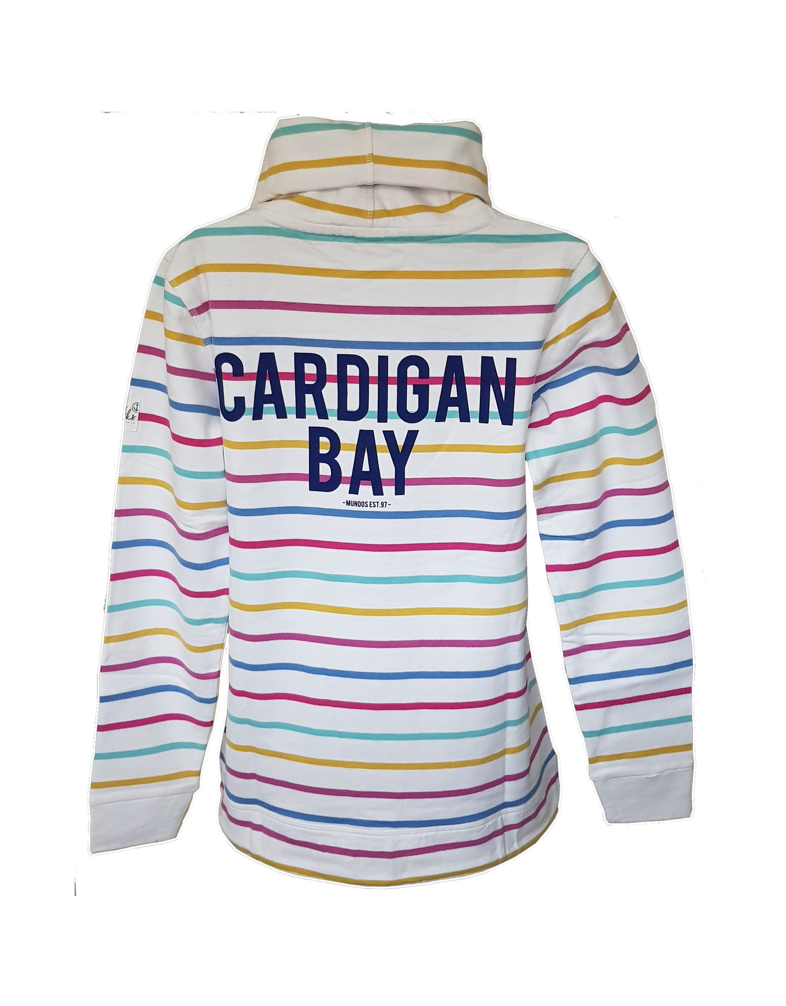 Lazy Jacks Lazy Jacks Roll Necked Striped Sweat LJ31 - Cardigan Bay Print