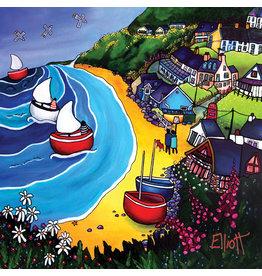 Helen Elliott Tresaith 3 Ships Postcard