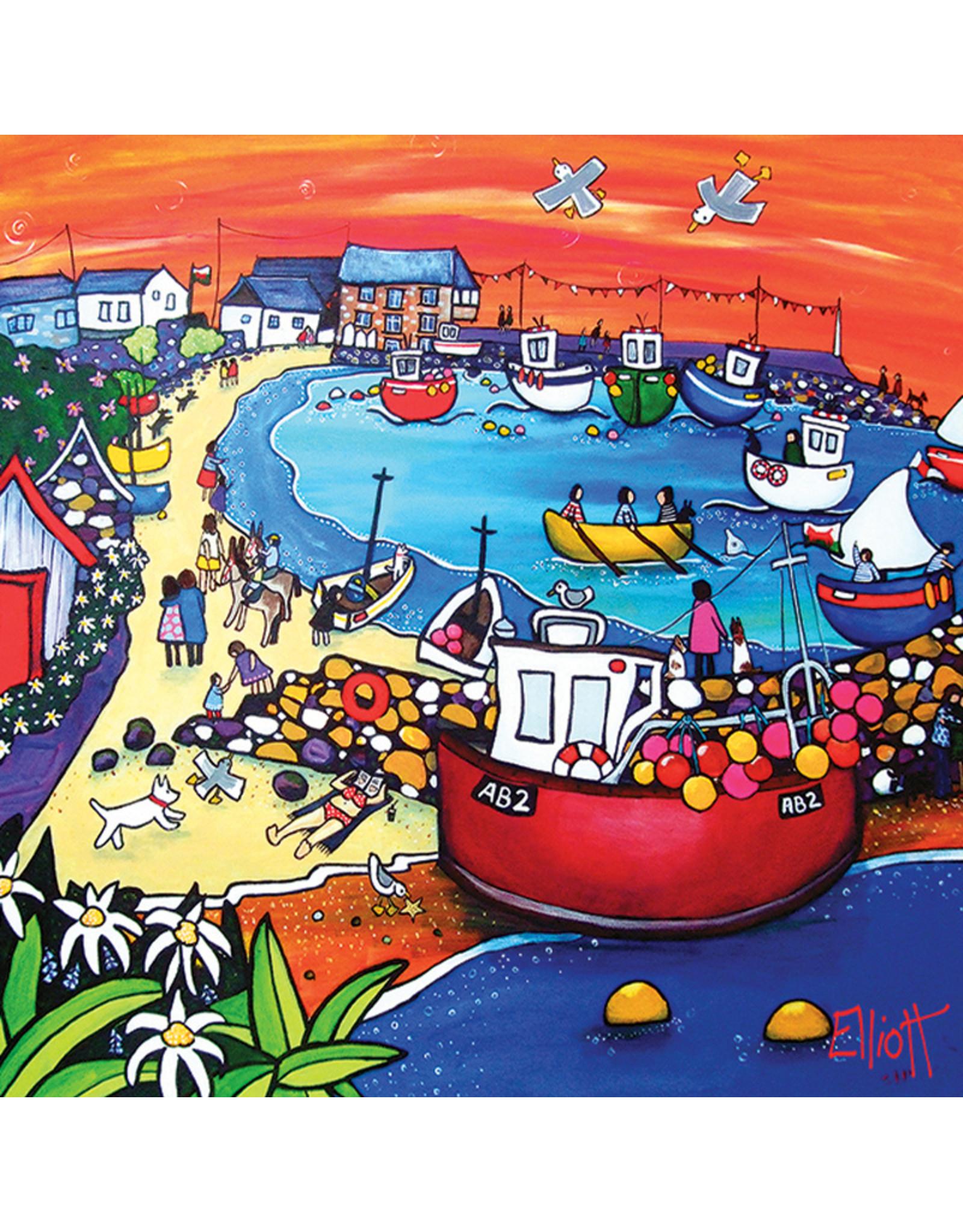 Helen Elliott New Quay AB2 Postcard