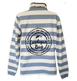 Lazy Jacks Lazy Jacks Slim Striped Sweatshirt LJ6 - Cardigan Bay Dolphin