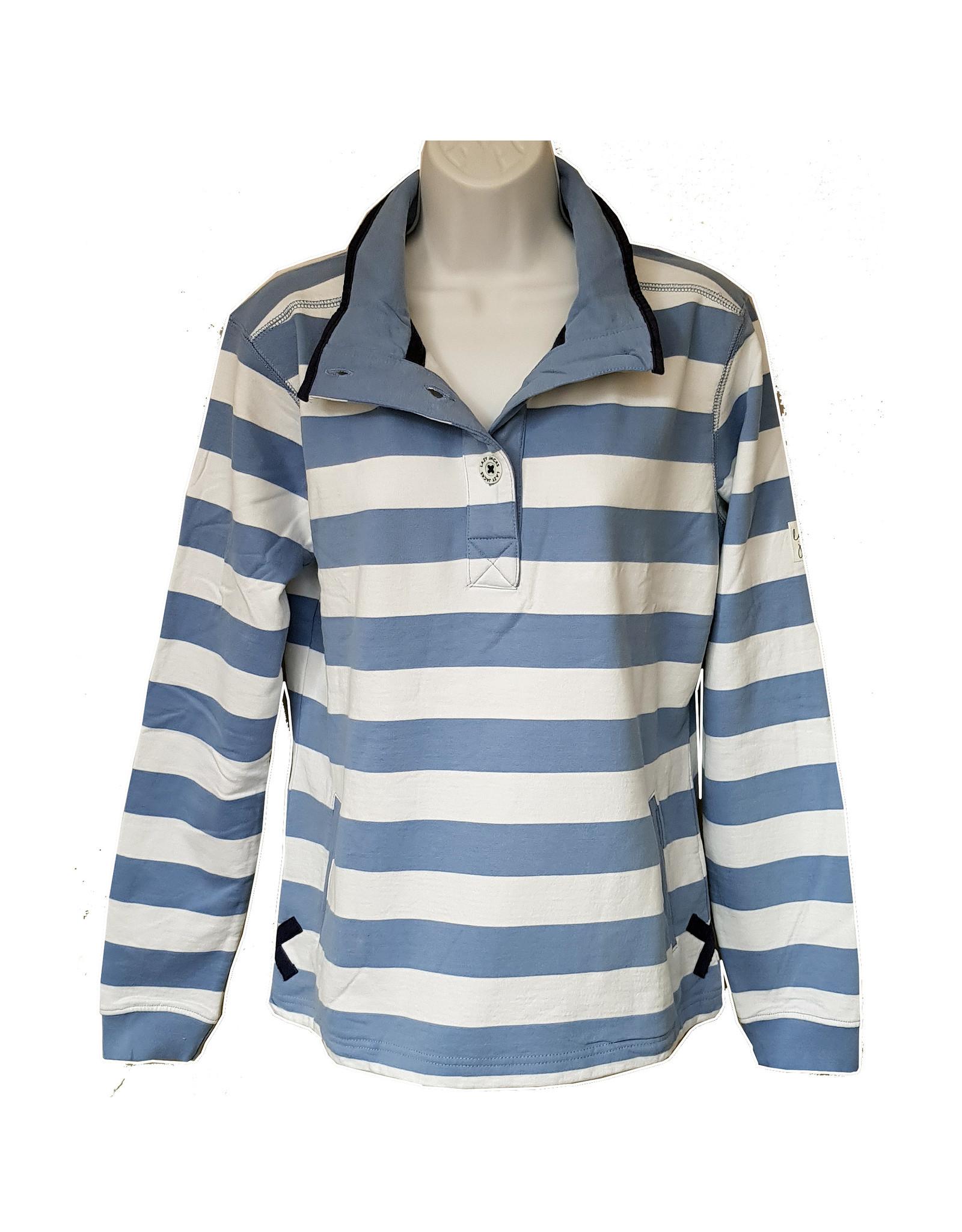 Lazy Jacks Lazy Jacks Slim Striped Sweatshirt LJ6 - Cardigan Bay Dolphin