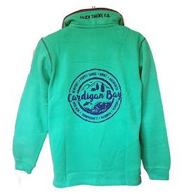 Lazy Jacks Lazy Jacks 1/4  Zip Sweatshirt LJ40 - Cardigan Bay Trees
