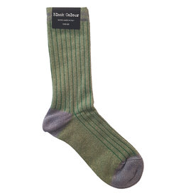 Black Colour Black Colour Candy Stripe sock green