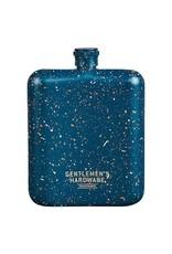 Wild and Wolf Gentlemen's Hardware Blue Speckled Hip Flask