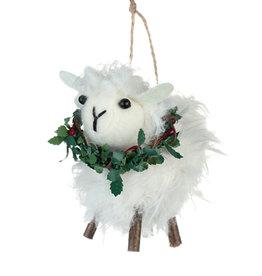 Shoeless Joe Sheep With Wreath