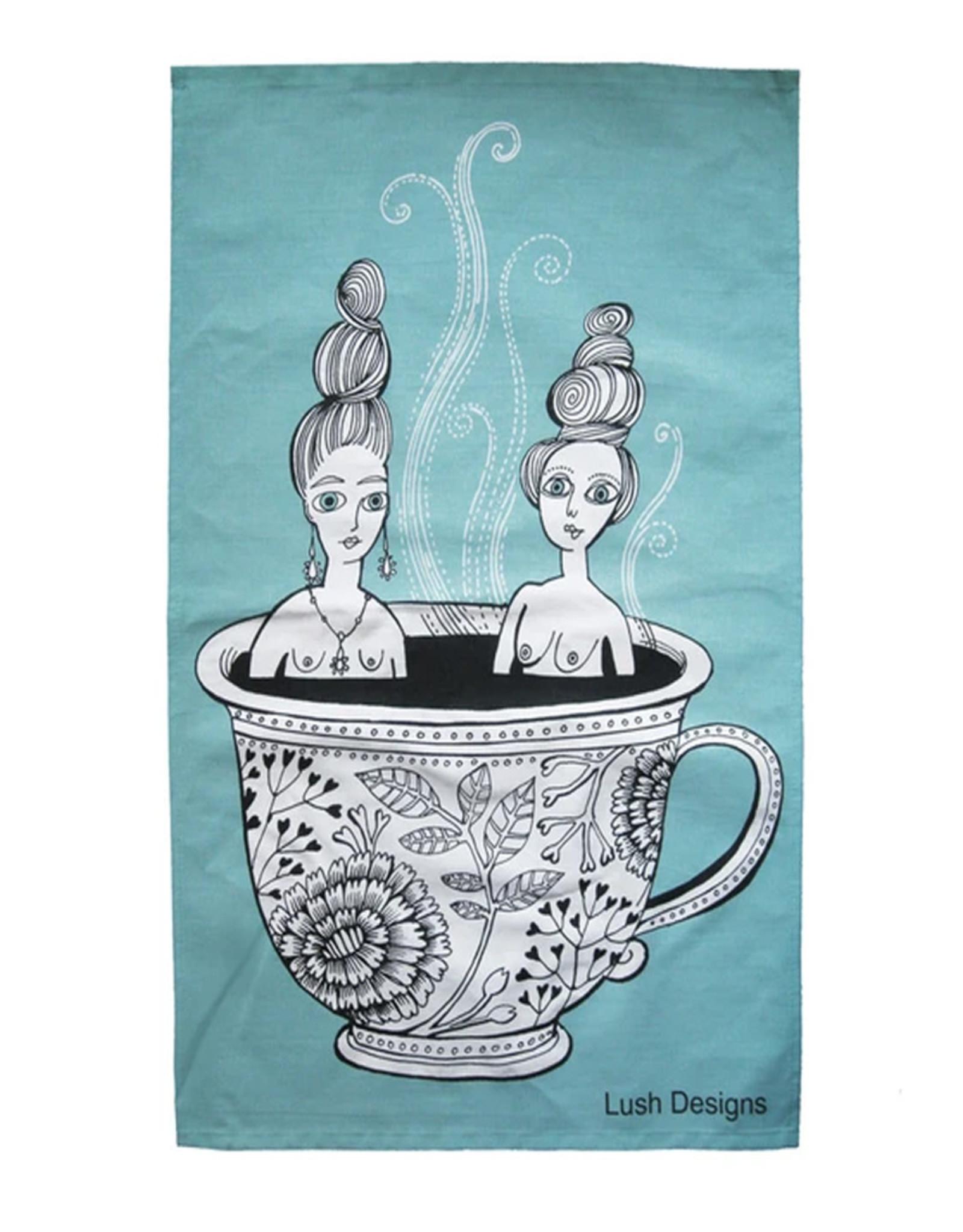 Lush Designs Lush Tea Towel Blue Teacup Ladies