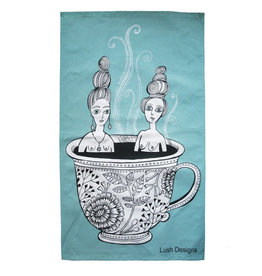 Lush Designs Lush Tea Towel Blue Teacup Ladies
