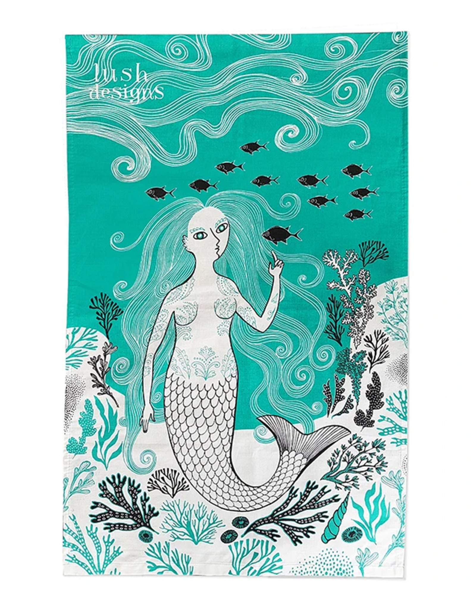 Lush Designs Lush Mermaid tea towel