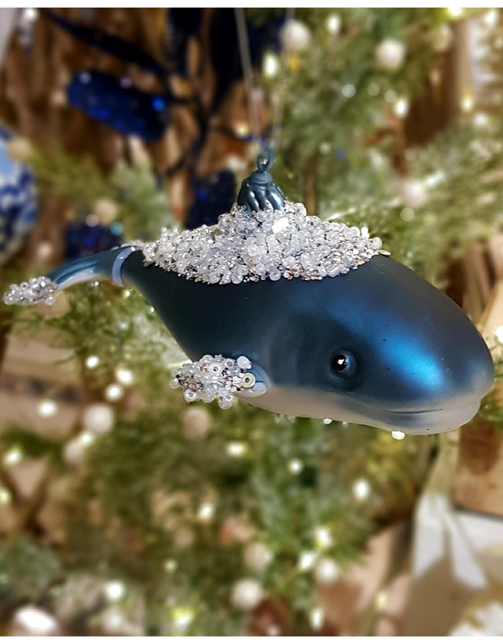 Shoeless Joe Glass Whale Decoration