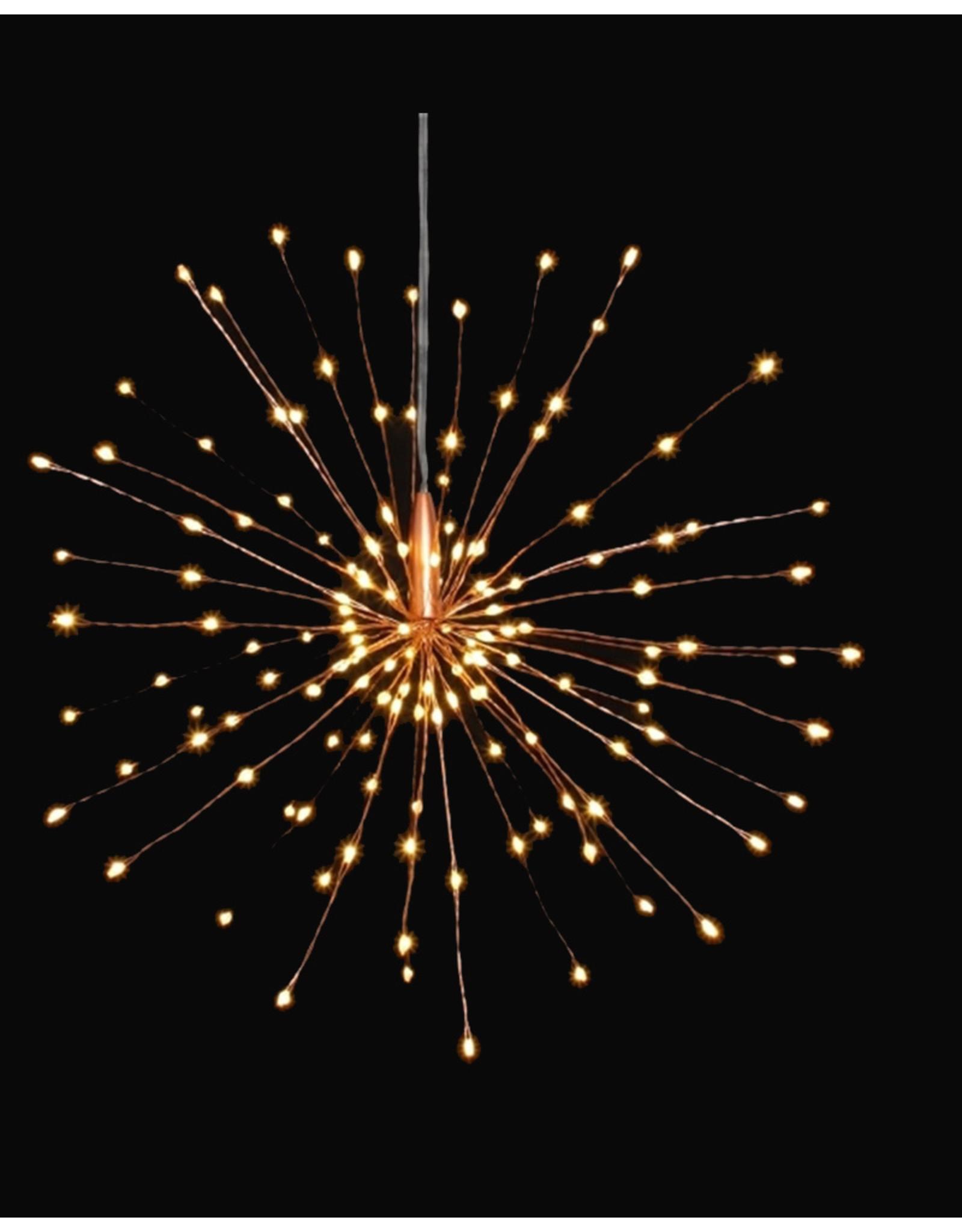 Lightstyle London Hanging Starburst Light - Copper - Mains