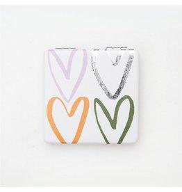 Caroline Gardner Caroline Gardner Rainbow Hearts Pocket Mirror