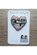 Sister Sister Cwtch Brooch