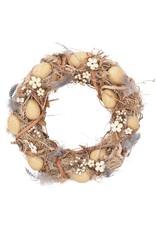 Gisela Graham Gisela Graham Twig/Feather/Egg Wreath