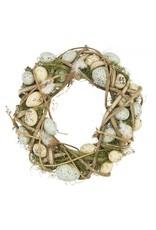 Gisela Graham Wicker/Egg/Moss Wreath