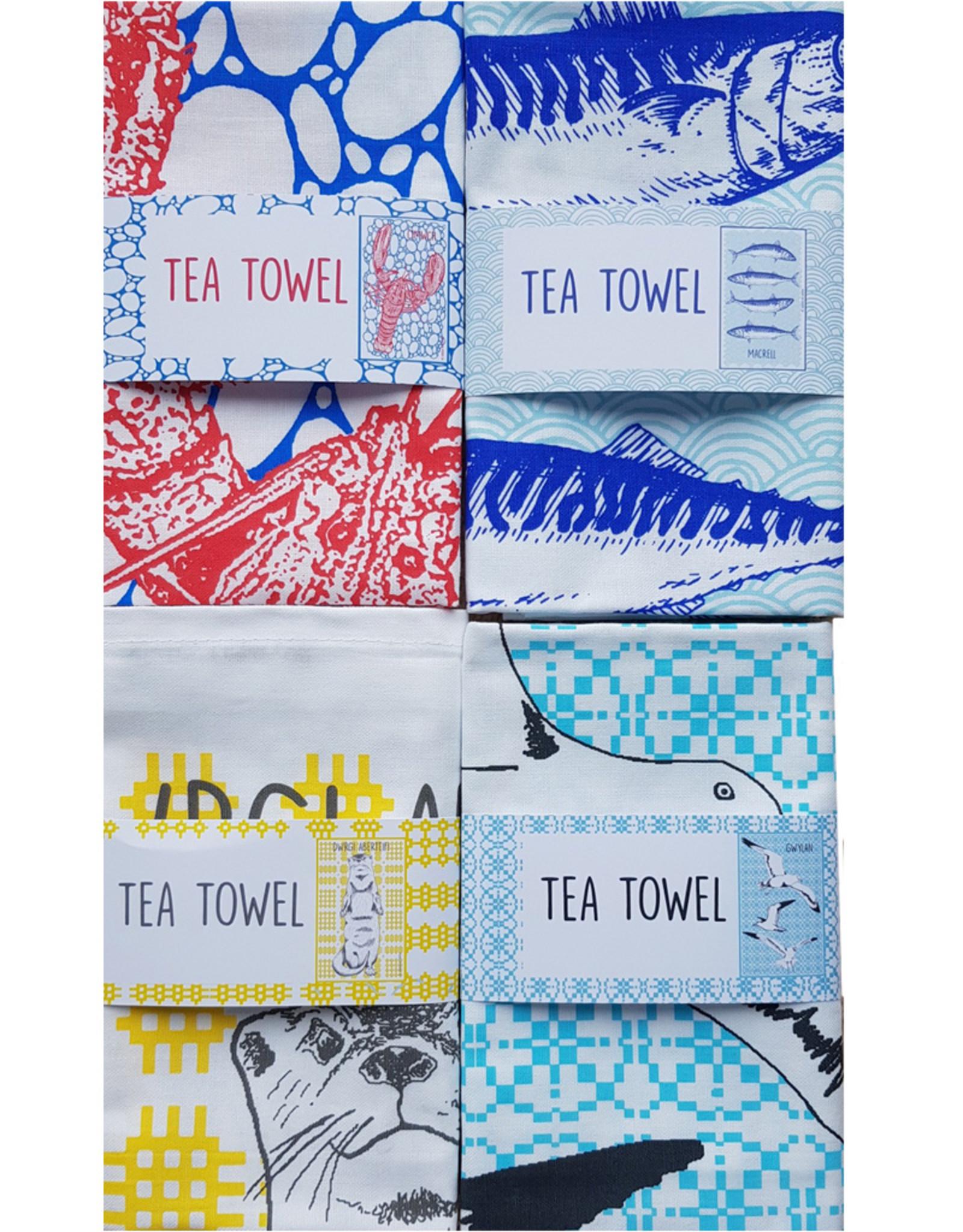Cardigan Bay Company Cimwch Tea Towel